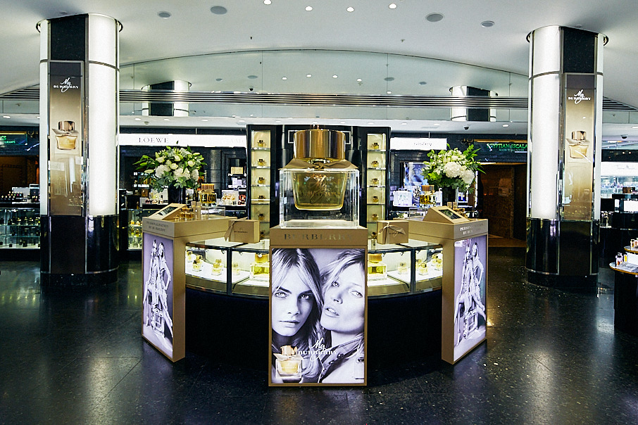 My Burberry fragrance counter in department store