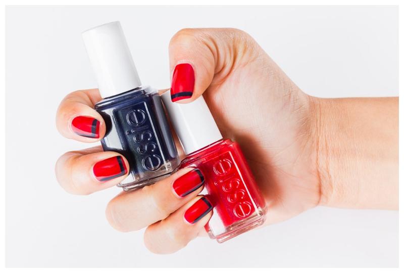Hands holding nail polish