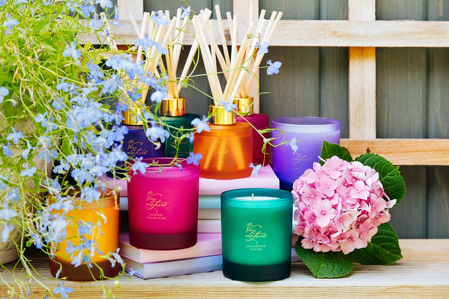candles and diffusers with flowers