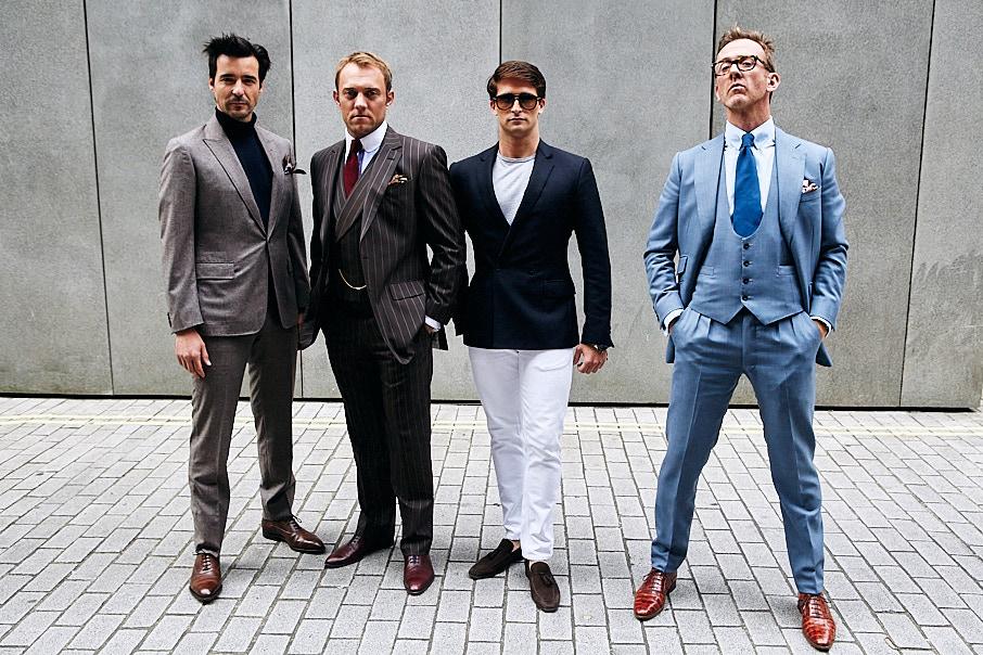 Group of stylish men photographed by Jon Bradley