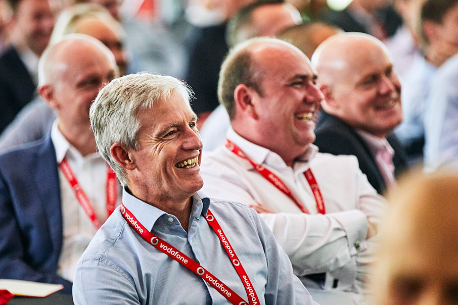 Vodafone attendees at conference photo by Jon Bradley